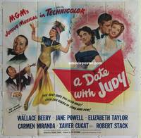 k039 DATE WITH JUDY six-sheet movie poster '48 Beery, young Liz Taylor!