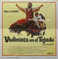 k048 FIDDLER ON THE ROOF Spanish/US six-sheet movie poster '72 Topol, Picon