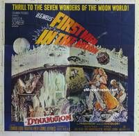 k008 FIRST MEN IN THE MOON six-sheet movie poster '64 Ray Harryhausen