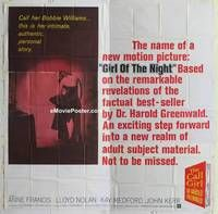 k055 GIRL OF THE NIGHT six-sheet movie poster '60 prostitute Anne Francis!
