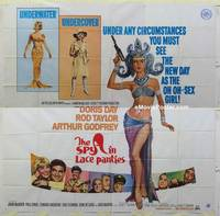 k056 GLASS BOTTOM BOAT int'l six-sheet movie poster '66 Spy in Lace Panties!