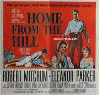 k059 HOME FROM THE HILL six-sheet movie poster '60 Mitchum