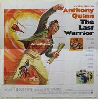 k050 FLAP int'l six-sheet movie poster '70 Anthony Quinn, The Last Warrior!