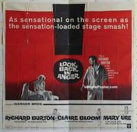 k067 LOOK BACK IN ANGER six-sheet movie poster '59 Richard Burton, Bloom