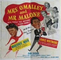 k074 MRS O'MALLEY & MR MALONE six-sheet movie poster '51 Marjorie Main