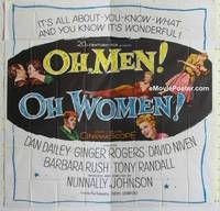 k079 OH MEN OH WOMEN six-sheet movie poster '57 Dan Dailey, Ginger Rogers