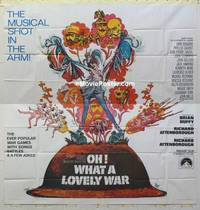 k080 OH WHAT A LOVELY WAR int'l six-sheet movie poster '69 great image!
