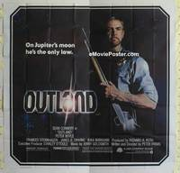 k012 OUTLAND six-sheet movie poster '81 Sean Connery posing with shotgun!