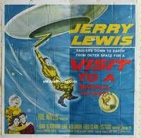 k016 VISIT TO A SMALL PLANET six-sheet movie poster '60 Jerry Lewis