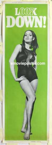 f010 THUNDERBALL #2 door panel movie poster '65 super sexy Bond girl!