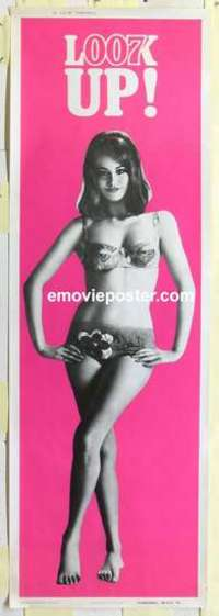 f009 THUNDERBALL #1 door panel movie poster '65 super sexy Bond girl!