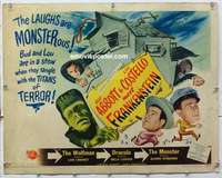 f011 ABBOTT & COSTELLO MEET FRANKENSTEIN half-sheet movie poster '51