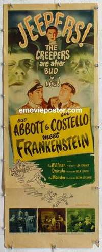 f014 ABBOTT & COSTELLO MEET FRANKENSTEIN insert movie poster R56