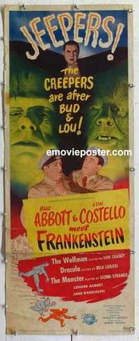 f013 ABBOTT & COSTELLO MEET FRANKENSTEIN insert movie poster '48