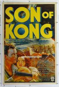 f006 SON OF KONG linen one-sheet movie poster '33 Ernest B. Schoedsack