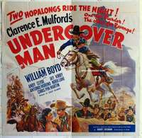 k468 UNDERCOVER MAN six-sheet movie poster '42 Hopalong Cassidy