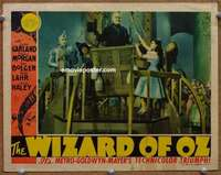 w001 WIZARD OF OZ movie lobby card '39 classic balloon scene!