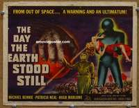 z001 DAY THE EARTH STOOD STILL movie title lobby card '51 classic sci-fi!