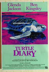 a073 TURTLE DIARY English one-sheet movie poster '85 Andy Warhol artwork!