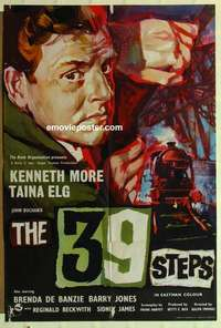 a007 39 STEPS English one-sheet movie poster '60 Kenneth More