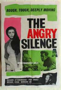 a009 ANGRY SILENCE English one-sheet movie poster '61 Attenborough, Angeli