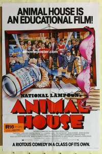 a011 ANIMAL HOUSE cast style English one-sheet movie poster '78 Landis