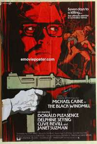 a013 BLACK WINDMILL English one-sheet movie poster '74 Michael Caine