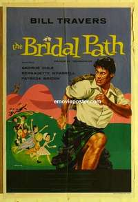 a016 BRIDAL PATH English one-sheet movie poster '59 Bill Travers, Cole