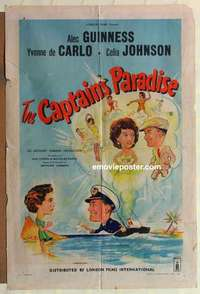 a018 CAPTAIN'S PARADISE English one-sheet movie poster '53 Alec Guinness