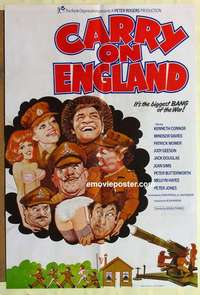 a020 CARRY ON ENGLAND English one-sheet movie poster '76 English sex!