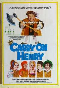 a021 CARRY ON HENRY VIII English one-sheet movie poster '72 English sex!