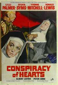 a022 CONSPIRACY OF HEARTS English one-sheet movie poster '60 Lili Palmer