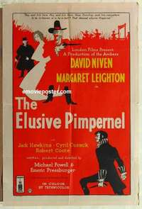 a027 ELUSIVE PIMPERNEL English one-sheet movie poster '50 Michael Powell