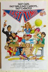a029 FAST TIMES AT RIDGEMONT HIGH English one-sheet movie poster '82 Penn
