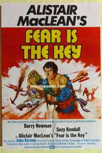 a030 FEAR IS THE KEY English one-sheet movie poster '73 Alistair MacLean