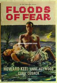 a031 FLOODS OF FEAR English one-sheet movie poster '59 Keel, Anne Heywood