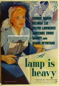 a032 GENTLE TOUCH English one-sheet movie poster '57 A Lamp is Heavy!