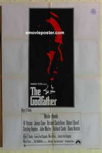 a034 GODFATHER English one-sheet movie poster '72 Francis Ford Coppola