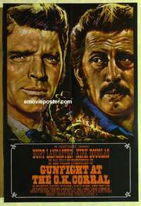 a035 GUNFIGHT AT THE OK CORRAL English one-sheet movie poster R70s Lancaster