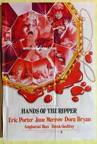 a037 HANDS OF THE RIPPER English one-sheet movie poster '72 Hammer horror!