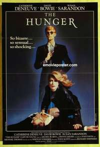 a042 HUNGER English one-sheet movie poster '83 Catherine Deneuve, Bowie