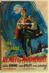 a043 ILL MET BY MOONLIGHT English one-sheet movie poster '58 Michael Powell