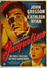 a044 JACQUELINE English one-sheet movie poster '56 Kathleen Ryan, Gregson