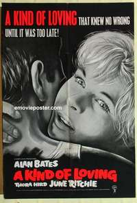 a046 KIND OF LOVING English one-sheet movie poster '62 John Schlesinger