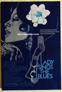 a048 LADY SINGS THE BLUES English one-sheet movie poster '72 Diana Ross