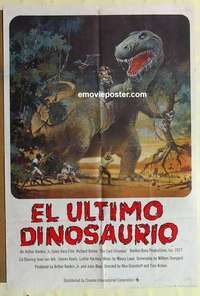 a050 LAST DINOSAUR SpanEng English one-sheet movie poster '77 great artwork!