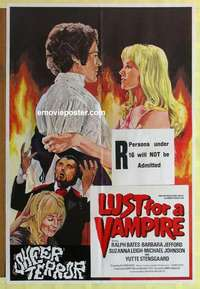 a053 LUST FOR A VAMPIRE English one-sheet movie poster '71 Hammer horror!