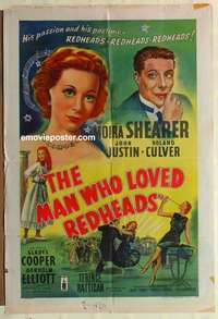a054 MAN WHO LOVED REDHEADS English one-sheet movie poster '55 Shearer
