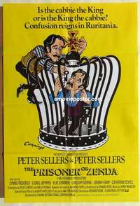 a057 PRISONER OF ZENDA English one-sheet movie poster '79 Peter Sellers