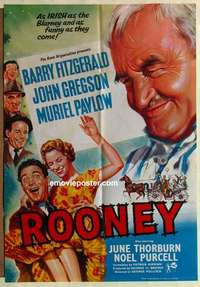 a059 ROONEY English one-sheet movie poster '58 Fitzgerald, Irish blarney!